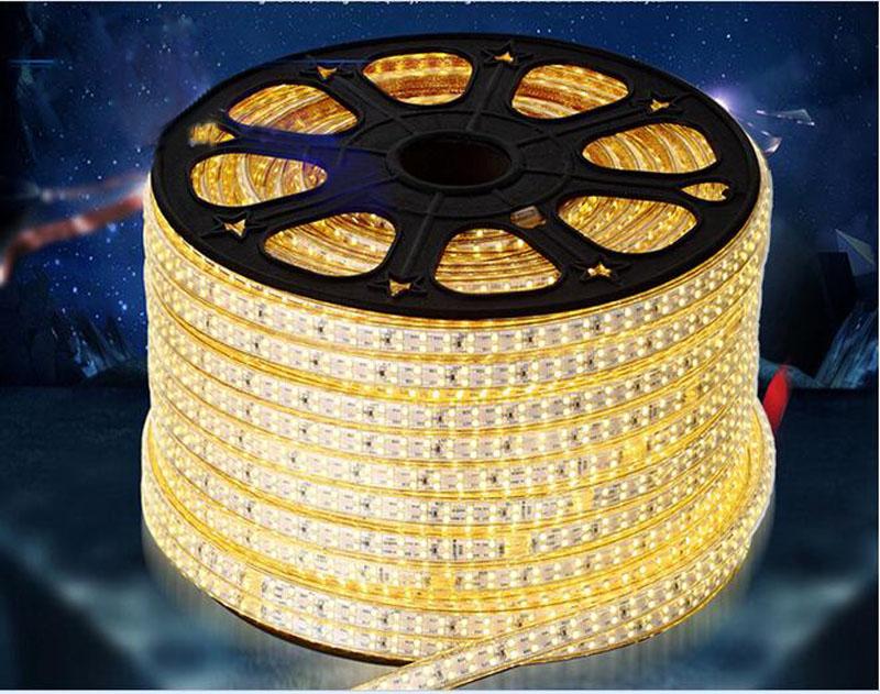 50m/lot 220V 230v 240v led strip light SMD 2835 180leds flexible tape light waterproof cheap price good quality free Power plug(China (Mainland))