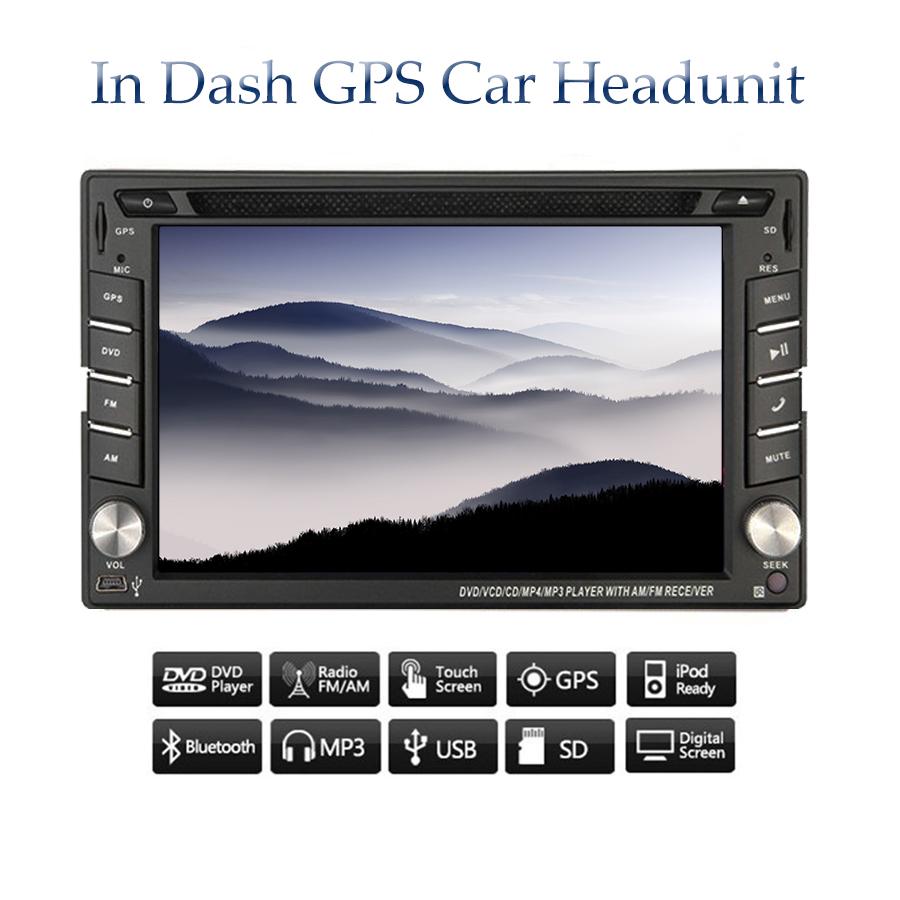 Car Stereo Headunit 2 Din Radio Car DVD Player In Dash GPS Navigation 6.2 inch Digital Touch Screen Bluetooth FM/AM Wince 8.0 UI(China (Mainland))