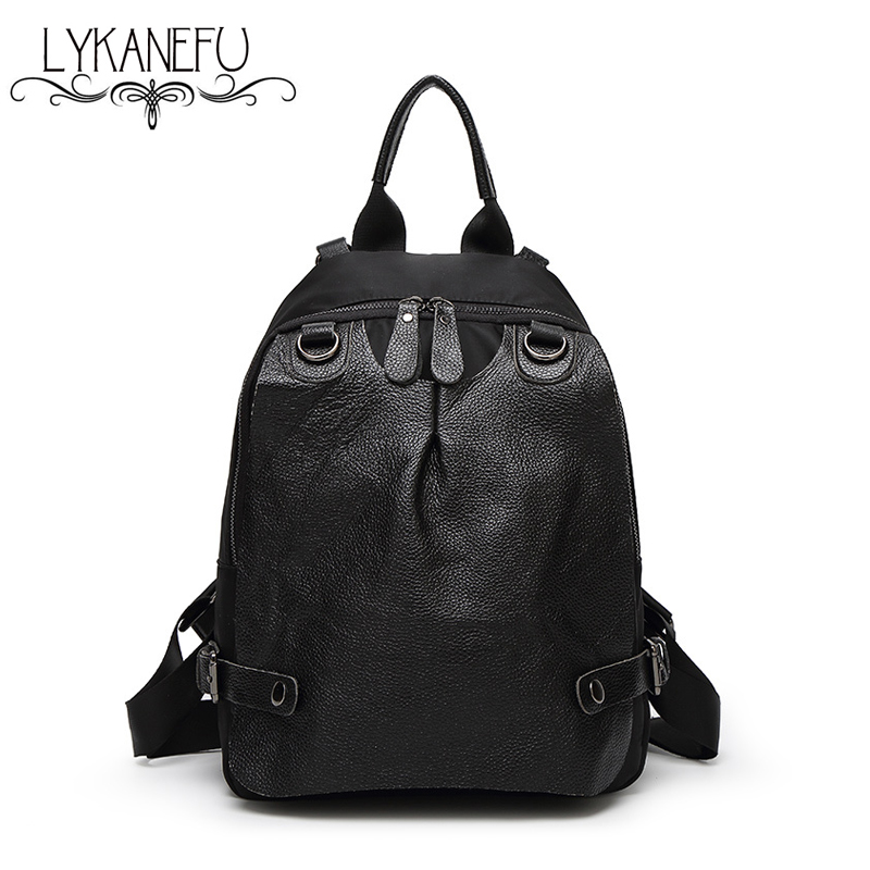 Fashion 2015 Backpacks Women Bag Genuine Leather Backpack School Bags For Teenagers Mochila Feminina