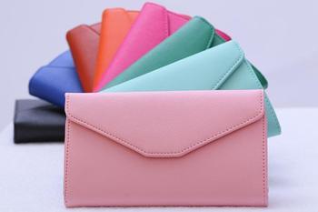 Portfel damski kopertówka wielofunkcyjna elegancki elektryzujące kolory