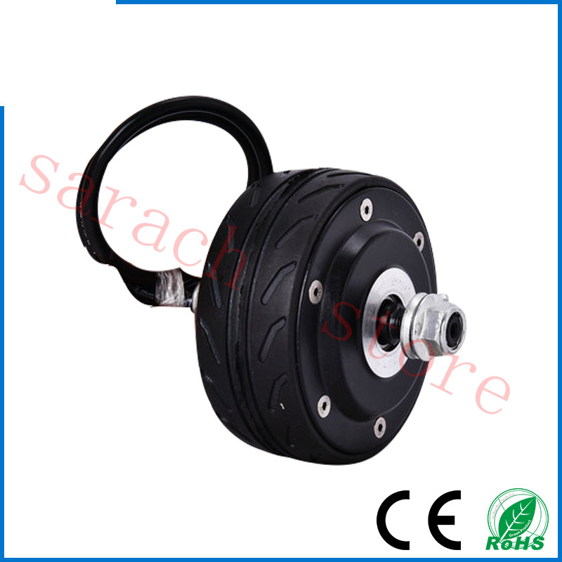 free shippping 80W 36v  4 inch double  shaft electric wheel hub motor ,electric motor scooters ,skateboard electric motor