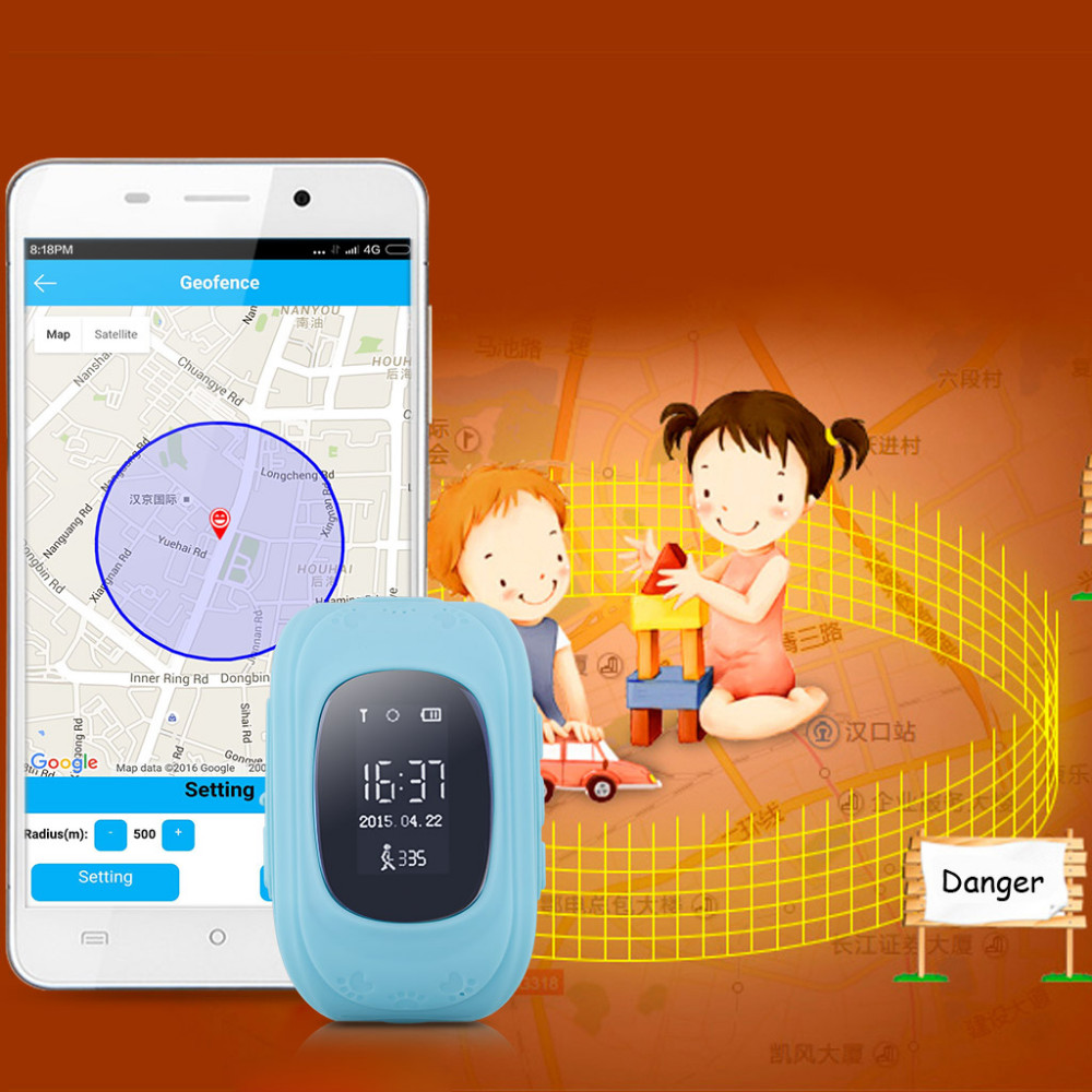 Smart Phone Watch Children Kid Wristwatch Q50 GSM GPRS GPS Locator Tracker Anti-Lost Smartwatch Child Guard for iOS Android O2