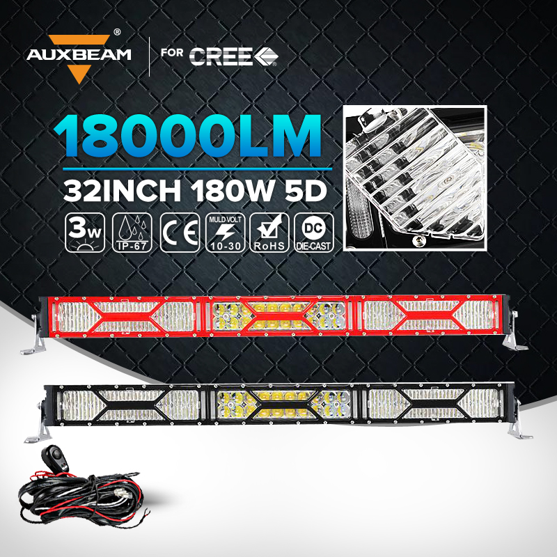 Aubeam Cree 18000LM 32 Inch 180W Straight Car LED Work Light Bar Spot Flood Lamp Combo For Jeep ATV Trailer Led Driving Lamp(China (Mainland))