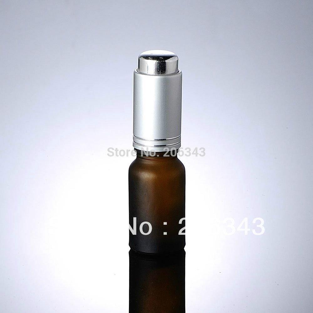 10ml brown frosted bottle with silver press pump glass dropper ,for cosmeticl packaging<br><br>Aliexpress