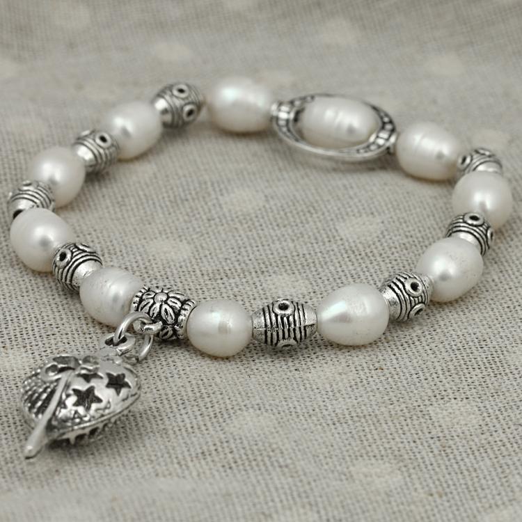 Romantic valentine's day gift pearl bracelet & bangle jewelry hollow mosaic bracelet(China (Mainland))