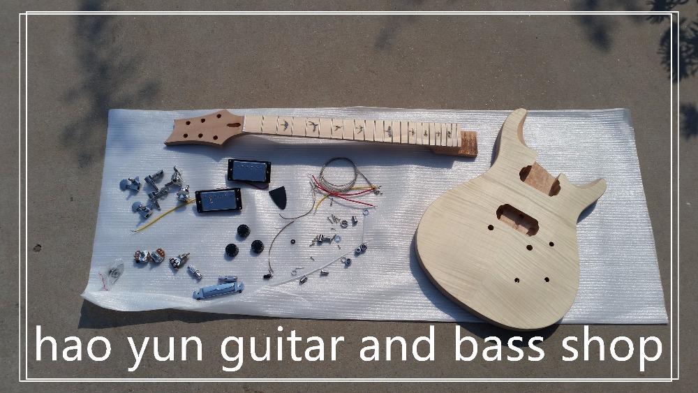 Free shipping PRS electric guitar kit/unfinish guitar/Diy electric guitar(China (Mainland))