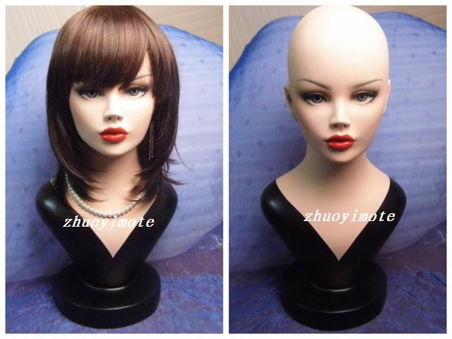 High quality Fiberglass Realistic female manikin dummy head  mannequin heads bust for wigs & hat & sunglass & jewelry display