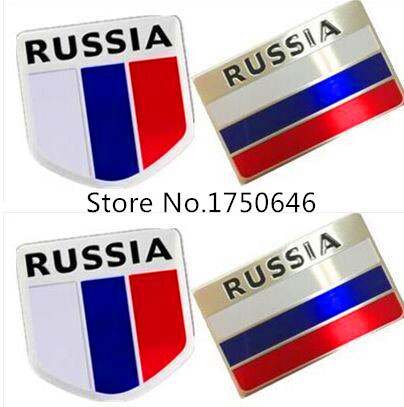 3D Aluminum Russia Flag car sticker accessories stickers For avensis camry Yaris Prius RAV4 Toyota corolla car emblem(China (Mainland))