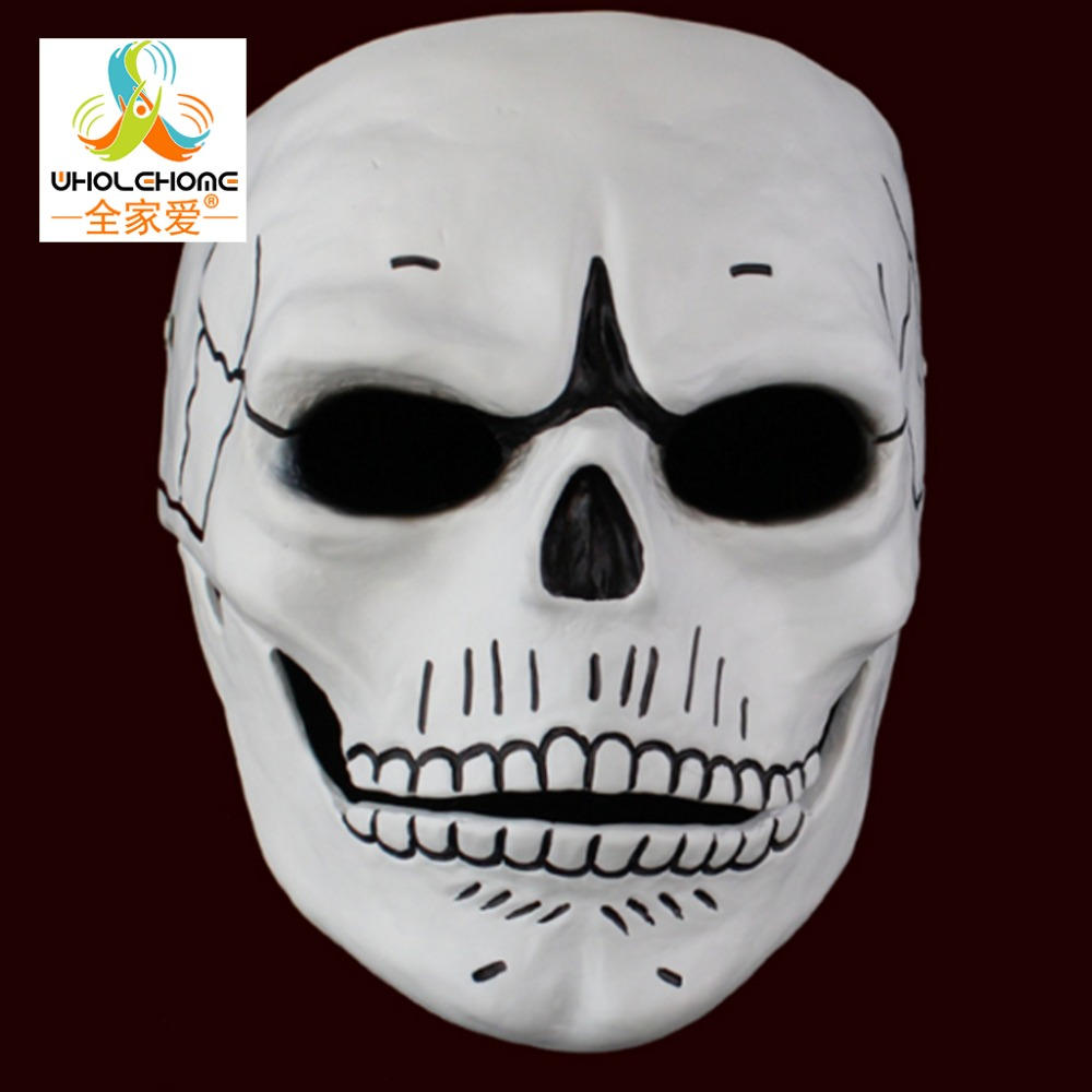 New Movie 007: Spectre Full Face JAMES BOND Mask GFRP Hand Painted Skull Skeleton Unisex Cosplay Props Party Halloween Carnival(China (Mainland))