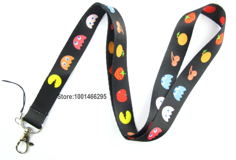 Free shipping 200 Pcs /Wholesale lots Cartoon fruit Necklace Strap Lanyards Cell Phone PDA Key ID Strap Charms L017(China (Mainland))