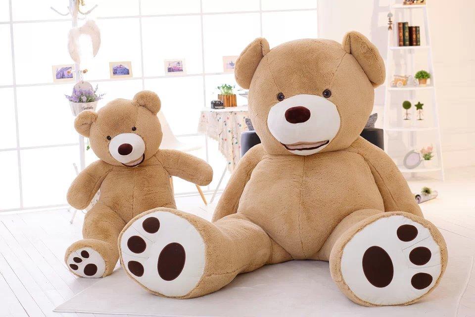 New arrival Teddy Bear plush toy Giant Bear 93 inch 200cm-340CM smileTactic gift birthday PP cotton filling plants vs Plush Toys(China (Mainland))