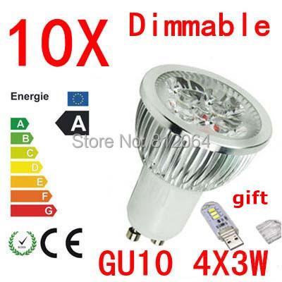 10X High power CREE GU10 E27 GU5.3 E14 3X3W 9W 4x3W 12W 5X3W 15W 85-265V Dimmable Light lamp Bulb LED Downlight Led Bulb(China (Mainland))