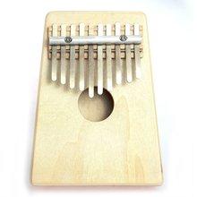 Finger Piano 10 Key Kalimba Mbira Sanza Thumb Piano Pine Light Yellow(China (Mainland))