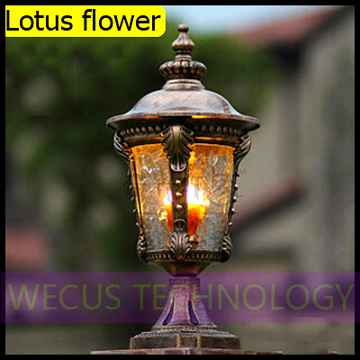 (WECUS) free shipping, outdoor post lamp, Courtyard Villa wall lamp, European series, with no light source, XJ-HWD0036(China (Mainland))