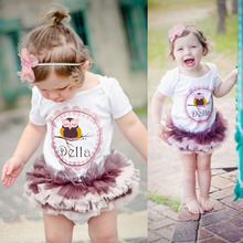 Super Baby One Piece T-shirts Tutu Dress Romper Outfits Cotton Baby Girls Clothes 0-3 Year