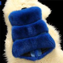 Faux Fur Jacket Coat  Outwear New Gilet Long Vest Women's Waistcoat Slim Warm  146(China (Mainland))