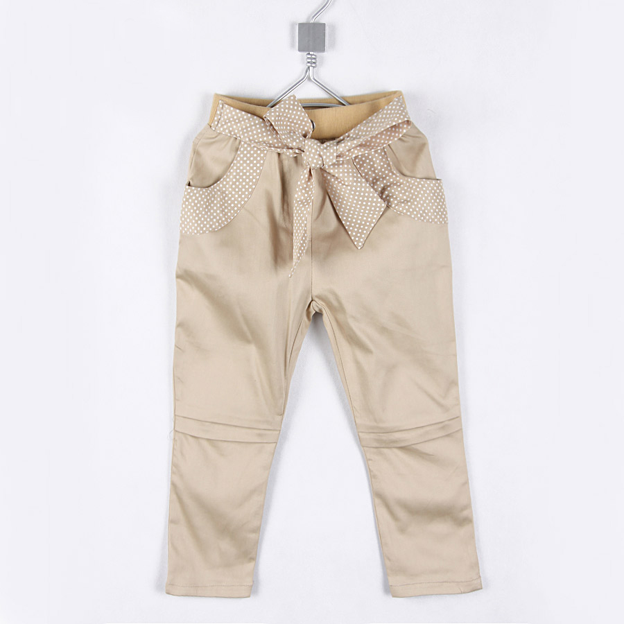 2014 New arrival Autumn Girls Pencil Pants with Bow Belt For Kids Tights Long Trousers A0006(China (Mainland))