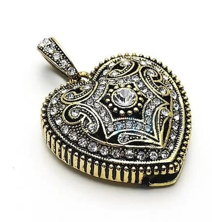 100% real capacity USB 2.0 Flash Memory Stick Drive Thumb/Car/Pen necklace crystal jewelry heart diamond memory 8GB 16GB S124(China (Mainland))