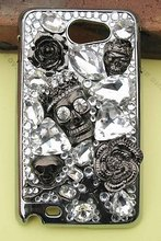 Crystal SKULL diamond Case Cover for Samsung Galaxy Note I717 GT-N7000 I9220(China (Mainland))