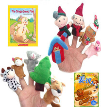 10pcs Fingner Puppets World English fairy tale the gingerbread man story that I Pack Christmas fairy tale I wholesale(China (Mainland))