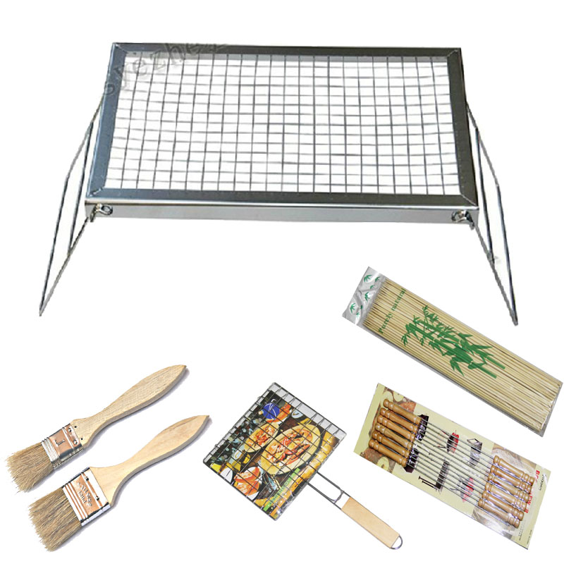 Field bbq outdoor portable rack simple barbecue rack charcoal rack(China (Mainland))