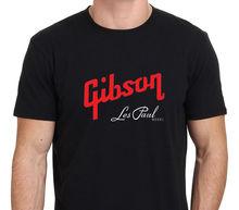 man t-shirts Gibson Les Paul Model Logo Men's Men T Shirt Great Quality Funny Man Cotton(China (Mainland))