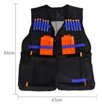 Trasporto libero nerf tactical vest jacket gilet magazine ammo holder per n-strike elite proiettili di pistola pistole giocattolo clip freccette(China (Mainland))
