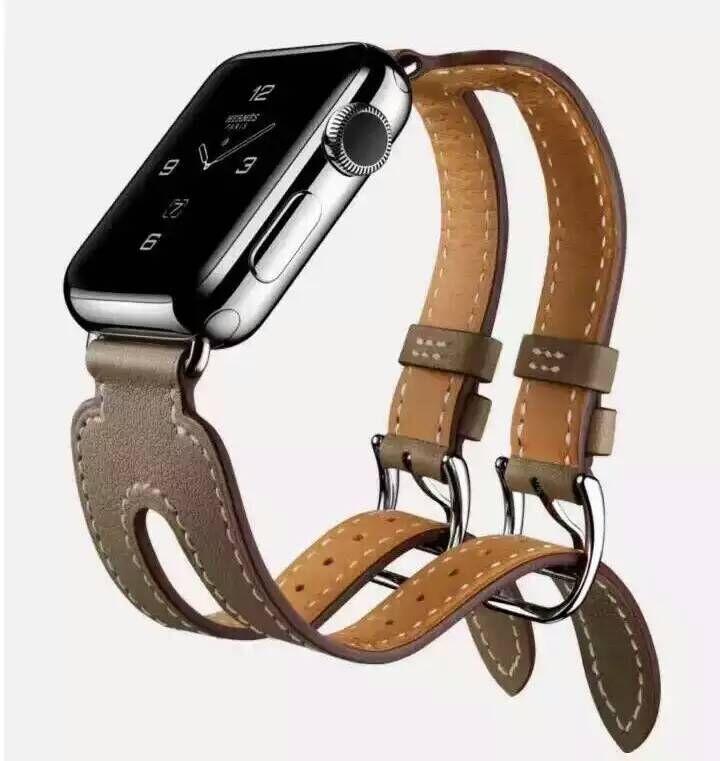 Новый 2-го поколения Apple Ремешок Из Натуральной Кожи Ремень Для Apple Ремешок Двойной Тур Браслет Кожаный Ремешок Для Часов 38mm42mm