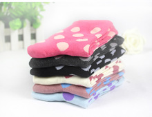 10 PCS/5PAIRS/1 LOT Kawaii Women's Flowers Socks Autumn Winter  Cotton Meias Cute Warm Tube Socks Medias Fashion Calcetines W048