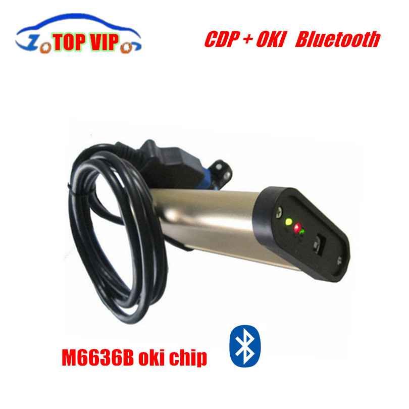 10 pcs/ set Hot selling gold color 3 in 1 tcs cdp with OKI chip Bluetooth 2013 R3 software cars trucks diagnostic tool by DHL(China (Mainland))