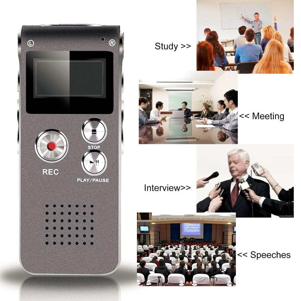 Voice-Recorder-Digital-N28-8G-USB-digital-voice-recorder-silver-Black-Mp3-player-free-ship-SD (4)