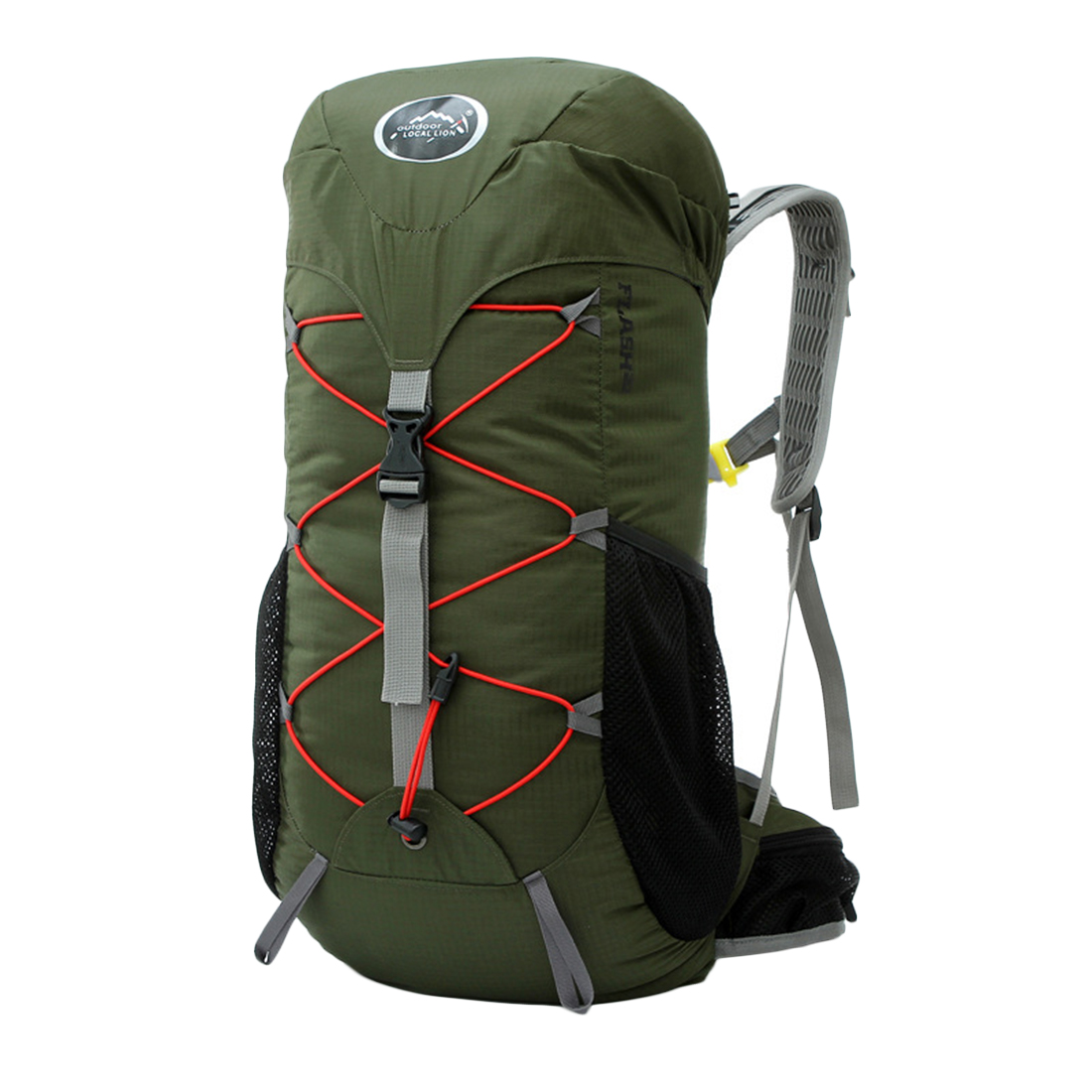 Army Green Local Lion 35L Outdoor Camping Bag Waterproof Ultralight Hiking Internal Frame Backpack(China (Mainland))