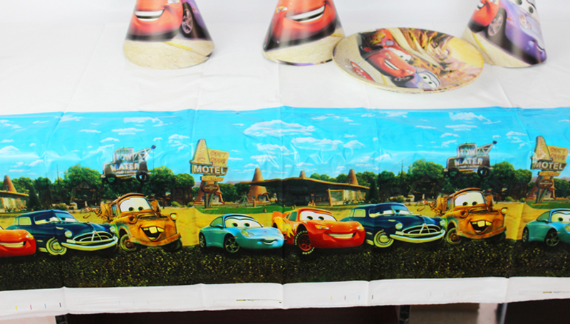 FreeShipping Kid Girl Baby Happy Birthday Party Decoration Kids Supplies Favors Disney Cars Table Cloth Size 220cm X 132cm(China (Mainland))