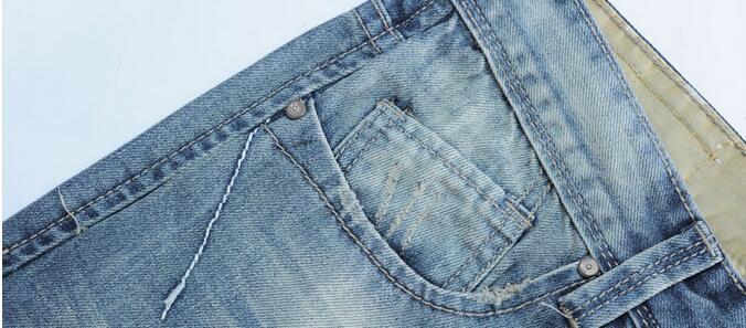 Скидки на 2016 новые дизайнерские мужчины рваные джинсы летом джинсовые брюки длины лодыжки брюки, Мужчины летние джинсы топ джинсы размер 28 - 36