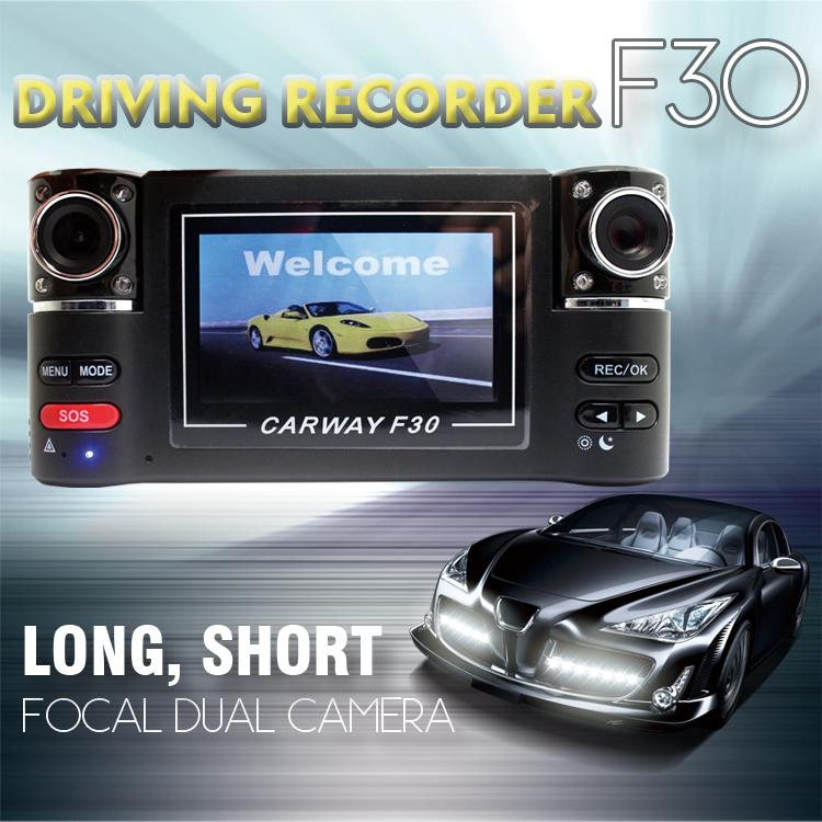 "F30 Dual Lens 2.7"" Car Dual Camera Night Vision HD Car DVR Vehicle Black Box Driving Camcorder Video Car Recorder(China (Mainland))"