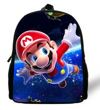 12-inch Mochila Mario School Bag Children Boys Cartoon Mario Backpack Kids Mario Book Bags For Girls(China (Mainland))
