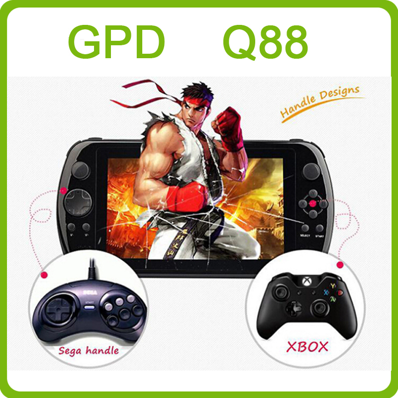 GPD Q88+ 7' Game Tablet PC quad core IPS Android Video Game console Portable Game Player GamePad Handheld game player mp5 player(China (Mainland))