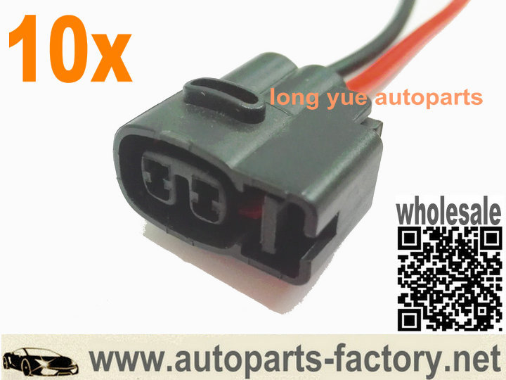 longyue factroy sale 50pcs 2pin Ignition Coil Pack Connector Wiring Plugs 15cm wire(China (Mainland))