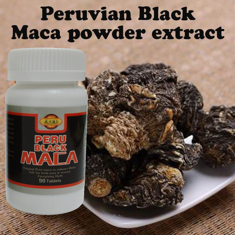 Buy 2 get 1 free! Peruvian black Maca 90pcs/lot Maca root extract powder organic Peru maca men/women health care free shipping(China (Mainland))