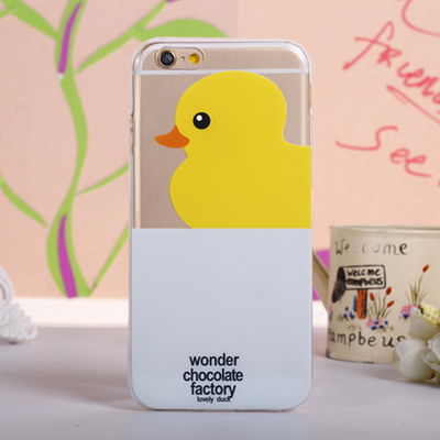 10PCS/Lot New Arrival Stylish Super Quality Brand Rubber Duck TPU Ultrathin Cellphone Cover Case For iPhone 6 For iPhone 6 Plus(China (Mainland))