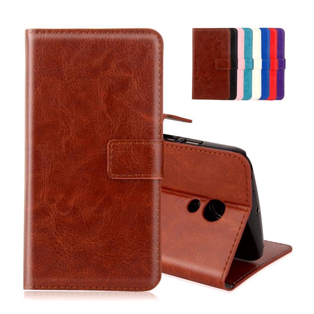Retro Wallet Style Flip PU Leather Case For Motorola Moto G2 G 2nd Gen XT1063 XT1068