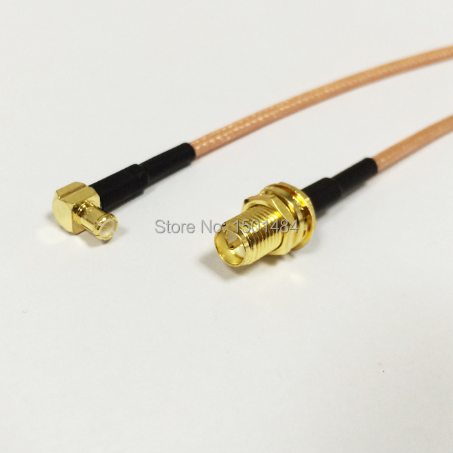New  RP-SMA  Female  Jack  Connector Switch MCX  Male  Plug  Right  Angle Convertor RG316 Cable 15CM 6 Adapter<br><br>Aliexpress