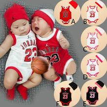 NEW summer newborn kids rompers 2015 basketball baby girl Jordans active rompers with hat Jordan babe infant carters clothes(China (Mainland))