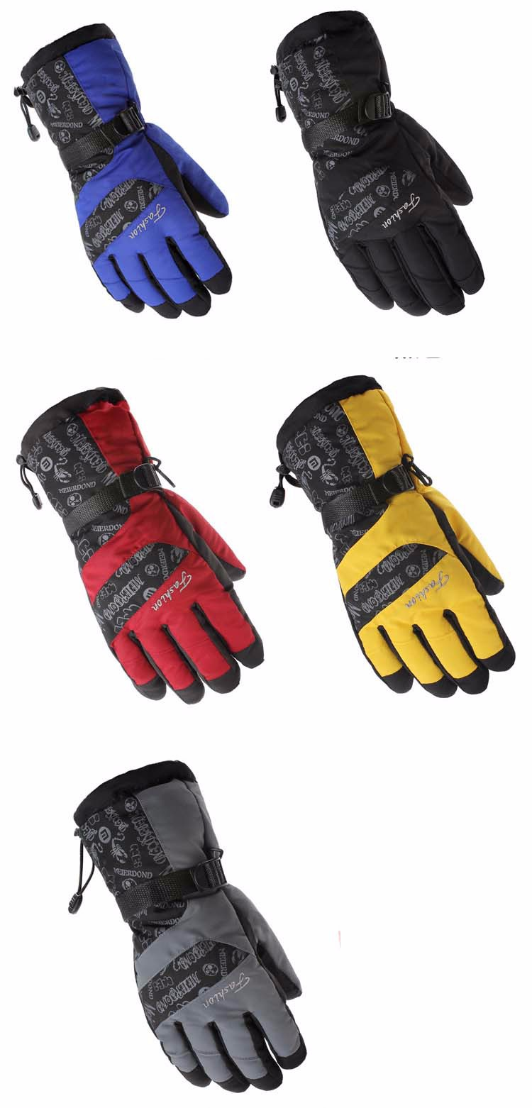 2GLV897 wholesale outdoor wind proof warm winter gloves climb mountain motorcycle thickening ski gloves