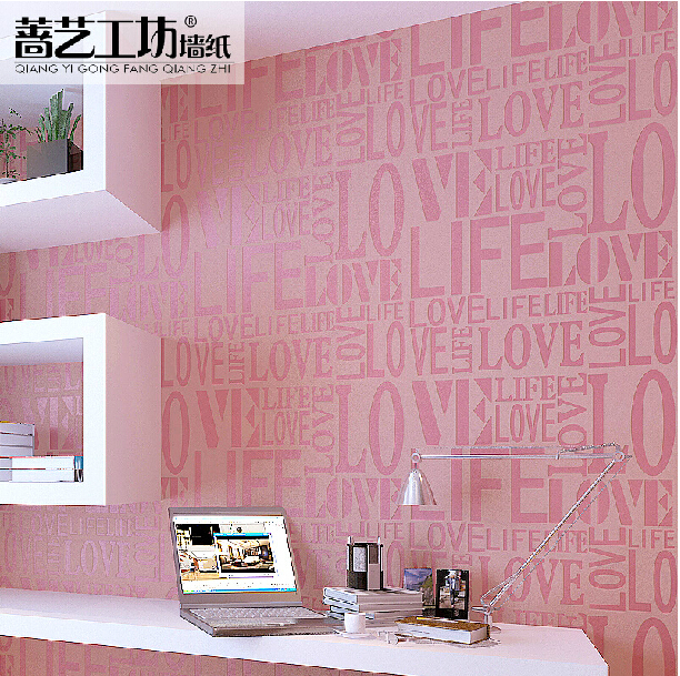 Modern living room european style background wallpaper for Pink living room wallpaper