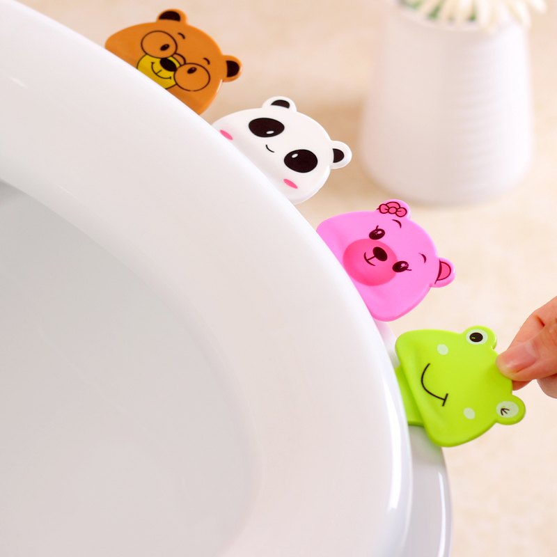 Cute cartoon portable cover is not dirty hands opened lid toilet lifting tool plunger 1 piece PP clogs pull tigre Surprise price(China (Mainland))