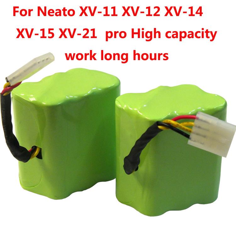 2 pcs 7.2v 4500mAh battery pack for Neato XV-21 XV-11 XV-14 XV-15 robot vacuum cleaner parts neato xv battery signature pro(China (Mainland))