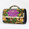 Ethnic Style Embroidery Flower Women 2016 New Trendy Shoulder Bag Pillow shaped Flap Hand held Crossbody