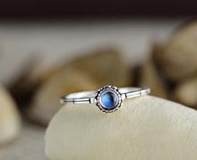 Высокое Качество Природные Кольцо Лунного Камня Vintage Стерлингового Серебра 925 Ювелирные Изделия Подарки(China (Mainland))