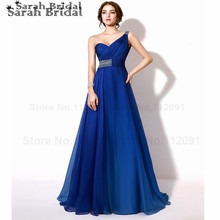 Sexy Cut Out Back Prom Dresses One Shoulder A-Line Long Evening Dresses With Luxury Beading vestidos de fiesta In stock TZ008(China (Mainland))